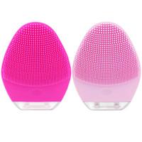 крем для мытья лица оптовых-Мини портативный силиконовая электрическая щетка для чистки лица Face Massager чистящая машина Вибрация Мини щетка для мытья лица Cleaner Brush