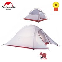 Naturehike Cloud Up Series 1 2 3 Person Ultralight Tent 20D Silicone Double layer Camping Tent with Mat Camp Equipment