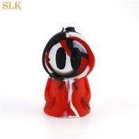 Wholesale ghost bongs resale online - Cute Ghost Tobacco pipe smoking sweet honey pipes colorful dab rig newest bubbler bong for smoke shop