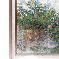 pegatina de cristal estática al por mayor-3d sin pegamento estático decorativo privacidad ventanas de películas autoadhesivas para el calor de bloqueo UV para las pegatinas de vidrio para el hogar dormitorio