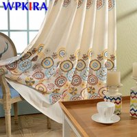 Wholesale high end crystal rings for sale - Group buy Annual ring High end Color Embroidered Curtain Modern Chinese Curtain For Living Room Bedroom Cotton Linen Drapes Tulle WP413D4