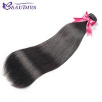 faisceaux de cheveux vierges chinois achat en gros de-Beaudiva Virgin Hair malaisien européen chinois chinois péruvien brésilien brésilien brésilien corps vague et Straight 4 Bundles 100% cheveux huaman