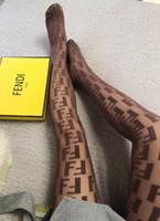 medias negras al por mayor-5 estilos de diseño de marca para mujer F Leters Calcetines con logotipo popular gc Girl Ladies Women Sexy Fashion Calcetería Color negro F bb Medias medias