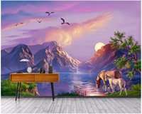 Wholesale oil proof kitchen wallpaper for sale - Group buy WDBH custom photo d wall paper HD scenery paradise fairyland oil painting background home decor d wall murals wallpaper for walls d