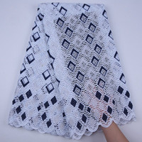 Latest African Lace Fabric 2019 High Quality Lace Pure Cotton Embroidery Nigerian Dry Fabric With Stones For Dresses S1748