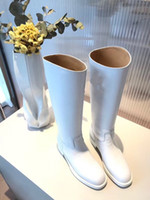 Wholesale metal tassel boots resale online - Designer Metal Shark lock Women Knee High Boots Polish Leather Long Booties Strap Wedges Shoes Ladies Knight Layer Boots yg19090503