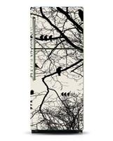 papel pintado auto-adhesivo del árbol al por mayor-Envoltura para frigoríficos / Pegatinas para lavavajillas / Pájaros blancos negros en el árbol / Vinilo autoadhesivo extraíble / Papel tapiz y adhesivo