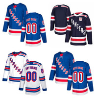 rangers ny toptan satış-En düşük fiyat ! 2017-2018 Sezonu Özelleştirilmiş NY New York Rangers Formalar Özel Buz Hokeyi Formalar Dikişli Herhangi Adı Numarası Boyutu S-XXXL