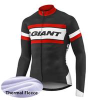 bisiklet jarse ceketi toptan satış-Yeni 2019 DEV bisiklet jersey kış termal polar MTB bisiklet gömlek uzun kollu Ceket Erkekler Bisiklet Giyim Ropa Ciclismo Hombre 122003Y
