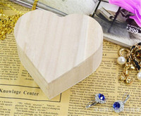 Wholesale heart shaped storage boxes for sale - Group buy Storage Boxes Heart Shape Wood Box Wedding Gift Home Storage Bin Earrings Ring Box Jewelry Box