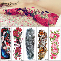 Wholesale big tattoo for women resale online - glaryyears Designs Sheet cm AC Big Large Full Arm Temporary Tattoo Beauty Women Decal Body Tattoo Sticker for Unisex D19011202