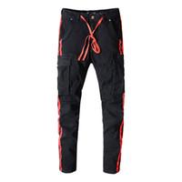 брюки сплошного цвета для мужчин оптовых-Спортивные брюки Miri Skinny Joggers с камуфляжным принтом для мужчин Новая мода Гарем Брюки Длинные сплошные брюки цвета Мужские брюки