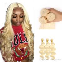 en iyi sarışın uzantılar toptan satış-Xiuyuan Toptan Brezilyalı Vücut Dalga Bal Sarışın Virgin Remy İnsan Saç 3 Paketler 613 Vücut Dalga Sınıf Remy İnsan Saç Uzantıları