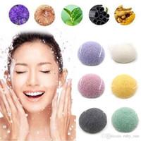 esponja de lavado de cara al por mayor-Konjac Konnyaku Fiber Lavado Facial Limpiar Esponja Herramientas de Exfoliación Soplador Facial Herramientas de Limpieza de Soplo RRA791