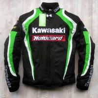 Wholesale kawasaki motorcycle jacket resale online - New style kawasaki breathable motorcycle jackets racing jackets knight off road jackets motorcycle clothing windproof have peotection