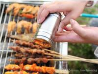 çeşniler şişe kavanozları toptan satış-Paslanmaz çelik baharat çalkalayıcı 4 boyutu döner fonksiyonlu baharat şişe çeşni şişeleri teneke mutfak araçları için BARBEKÜ baharat kavanoz