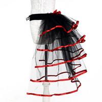 tutus rojo para mujeres al por mayor-Sexy Mujer Faldas Adultos Falda De Tul Rojo Púrpura Cola Tutu Falda Niñas Pastel Fiesta Danza Ballet Mujeres Gasa Custume Tutu