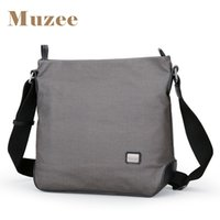 Wholesale messenger bags sections for sale - Group buy Muzee New Canvas Messenger Bag Men Shoulder Bag Crossbody Vertical Section Business Casual Small Package