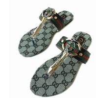 ingrosso scarpe da donna in pelle-Sandali di moda estate sandali gladiatore sexy scarpe incrociate in pelle stiletto Pantofole piatte donne Scarpe da spiaggia