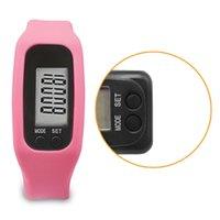 podómetro de muñeca de silicona al por mayor-LCD Reloj de pulsera Pulsera Podómetro Monitor de Deportes Ejercicio Ejercicio Contador de Pasos Fitness Silicona Pulsera Valentine REGALOS