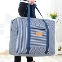 Wholesale rod travel bag for sale - Group buy Travel Moving Luggage Storage Bag Clothing Organizer Multifunctional Rod Large Capacity Handbag Oxford Portable Zippered Bag