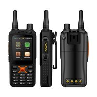 Wholesale digital video intercom online - Original F22 F22 Plus Android Smart outdoor Rugged Phone Walkie Talkie Zello PTT G Network intercom Radio Enhanced mAh Battery