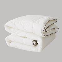 ingrosso piume trapunte-Winter Thick Warm Consolatore Comodo Superfine Feather Quilts Quality 100% Cotton Cover Water Washable Home Hotel Copripiumini bianchi