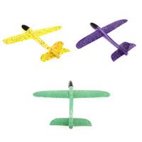 детские игрушки для мальчиков оптовых-48cm EPP Foam Plane Glider Model ing Lightweight Hand Throwing Airplane Toy children Outdoor Fun Gift Toys For boy girl Kids