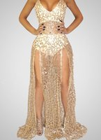 ingrosso vestito da sera nudo in rilievo-2019 abito da sera in rilievo puro Beyonce Met sfera tappeto rosso nudo nudo Celebrity abito Vedere attraverso Abiti formali sweep treno Backless