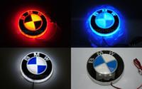 Wholesale x5 lights resale online - 8 cm bmw E46 E39 E60 E36 E90 F30 F20 F10 E30 e34 E38 E53 E87 X5 E53 E70 E83 d logo badge led emblem light lamp
