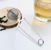 çay bilyesi süzgeç ağız infüzyon filtresi toptan satış-Çay Demlik 304 Paslanmaz Çelik Küre Örgü Çay Süzgeci Kahve Herb Spice Filtre Difüzör Kolu Çay Topu En Kaliteli