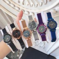 vendas no exterior venda por atacado-Vendas de comércio exterior Moda Mulheres Se Vestem Relógio Relojes De Marca Mujer Marca Milan cinto Senhora de Luxo relógio de Pulso de Quartzo Ímã de Ouro Rosa fivela