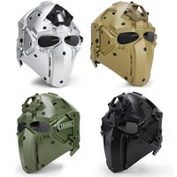 полные спортивные игры оптовых-Спорт на открытом воздухе Polymer езда шлем CS Игра Шлем Full маска для лица WoSport задействуя оборудование высокого качества 4 цвета