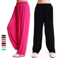 Wholesale chinese square art for sale - Group buy Modal Pants Bloomers Yoga Clothing Chinese traditiona Tai Chi Square Dance Yoga Pants Sports Running