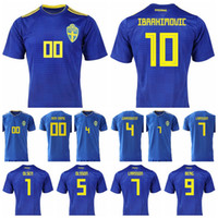c2157d04b Men Sweden Jersey 8 EKDAL 10 FORSBERG 10 IBRAHIMOVIC 1 OLSEN Football Shirt  Kits Goalkeeper 5 OLSSON 6 AUGUSTINSSON National Team Yellow