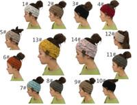 Wholesale hot band hair resale online - women Hat Knitted Headband Winter Warmer Head Wrap Hairband Acrylic Crochet Fashion Hair Band Beanie Accessories hot Cap klwh3