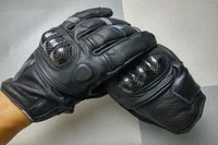 guantes amables al por mayor-Venta al por mayor- VENTA CALIENTE guantes de motocicleta de fibra de carbono de cuero Oanise guantes de carreras de moto caballero montando guantes 2 tipos de color talla M L XL