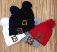Wholesale novelty ties for men resale online - Fashion Beanie Hats for Men and Women Knitted Wool Caps casual Beaniesembroidery Winter sport Caps