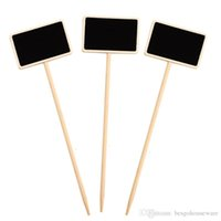 Wholesale chalkboard prices resale online - Mini Wooden Chalkboard Label Creative Party Blackboard Memo Tags Plants Flowers Price Tag Wedding Garden Decorations Message Card BH2349 ZX