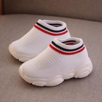 çocuklar için yaz spor ayakkabıları toptan satış-Tasarımcı Toddler Ayakkabı Çocuklar Bebek Yaz Çocuk Sneakers Bebek Koşu Spor Ayakkabı Yumuşak nefes Rahat Bebek Erkek Kız Çocuk