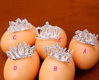 ingrosso pezzi di capelli per i bambini-Cute Litter Girls Head Pieces Bling Crystal Crown e Diademi per bambini Prom Wedding Prom Brithday Regali per feste Bellissimi gioielli per capelli