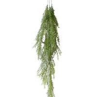 Wholesale diy shop decor resale online - Simulation Garden Hotel Shop Fake Vine Fake Pine Needle Wedding Wall Hanging Leaves DIY Party Office Home Decor Artificial Plant