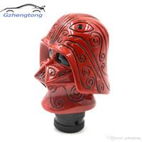 rote gangstockknöpfe großhandel-Gzhengtong Universal Fit Stick Hebelknopf Manuelle Automatische Red Warrior Auto Schaltknauf Schalthebel