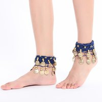 Wholesale dancing anklets feet for sale - Group buy Anklet Chain Arm Chain Decor for Belly Dance Indian Dance Performance Adult Bell Foot Decoration Super Ring