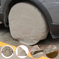 Wholesale waterproof car storage bag for sale - Group buy 1 PC Waterproof Anti UV Sunshade for Wheel Tire Bag Protection Covers Case Car Spare Storage Bags Carry Tote Polyester for Car