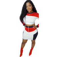 eb63989eefbd5 Wholesale crop top long slim skirt online - Brand Designer piece dress  women crop top mini