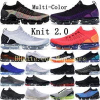Wholesale new basketball shoes boys for sale - Group buy New Fly Black Multi Color Running Shoes Men Women Midnight Purple Bred Triple Black Volt White Zebra BHM Orca Knit Sneakers Trainers
