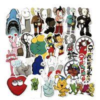 accesorios personalidad al por mayor-27 unids / set KAWS Disecado Compañero Graffiti Pegatina Personalidad Equipaje DIY pegatinas de dibujos animados PVC pegatinas de pared bolsa accesorios Kaws juguetes