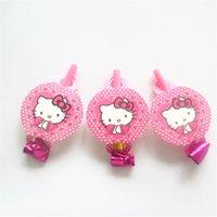 temas de fiestas de gatitos al por mayor-Fiesta de cumpleaños Fiesta de Ruido rosa de Hello Kitty Blowout muchacha de la historieta de dibujos animados Decoración Temática suministra Hornos