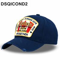 ingrosso cofano personalizzato-DSQICOND2 Maple Leaf Cotton Baseball Caps DSQ lettere di alta qualità Cap Uomini Donne Custom Design Logo Berrett Bonnet Homme Cappello papà